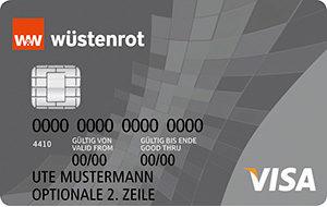 Wüstenrot Prepaid VISA Kreditkarte